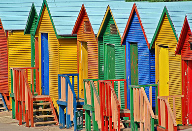 Cape Town False Bay Beach Huts Garden Route Guided Tours Western Cape South Africa